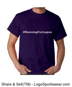 RunningForLupus t (Unisex Lupus Awareness t) Design Zoom