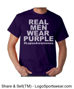 Real Men (Men's Lupus Awareness t) Design Zoom
