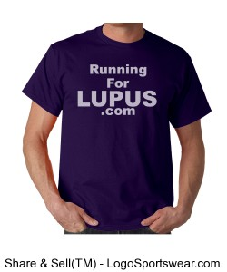 RunningForLupus.com (Unisex Lupus Awareness t) Design Zoom